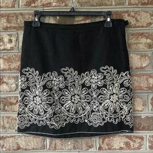 🌴Sophie Max String Art Floral Design Mini Skirt S